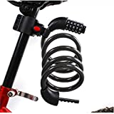 Bike Lock Cable, 4-Feet Bike Cable Basic Self Coiling Resettable Combination Cable Bike Locks with Complimentary Mounting Bracket, 4 Feet x 1/2 Inch …