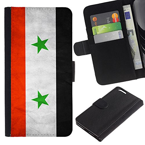 EuroCase - Apple Iphone 6 PLUS 5.5 - Syria Grunge Flag - Cuir PU Coverture Shell Armure Coque Coq Cas Etui Housse Case Cover