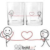 In the morning and throughout the day you can remember the one who has your heart with each sip from these his and hers drinking glasses! One for you and one for your loved one allows you to share your bond even when you're apart! BOLDLOFT® o...