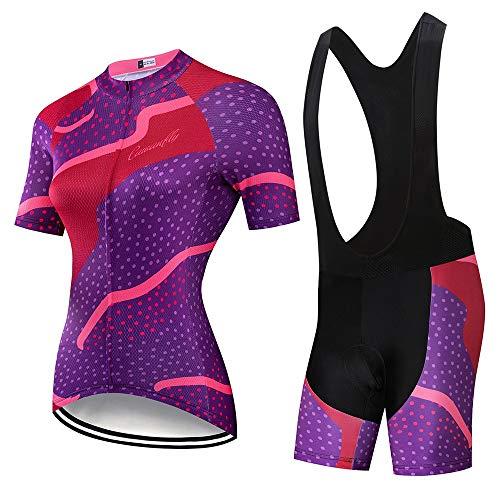 NBSMN Fietskleding voor dames, set 2020, zomer, fietsshirt voor dames, mountainbike, shirt met korte mouwen…