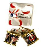 MLB Minnesota Twins Plastic Drum Ornament Set (2-Pack), Blue