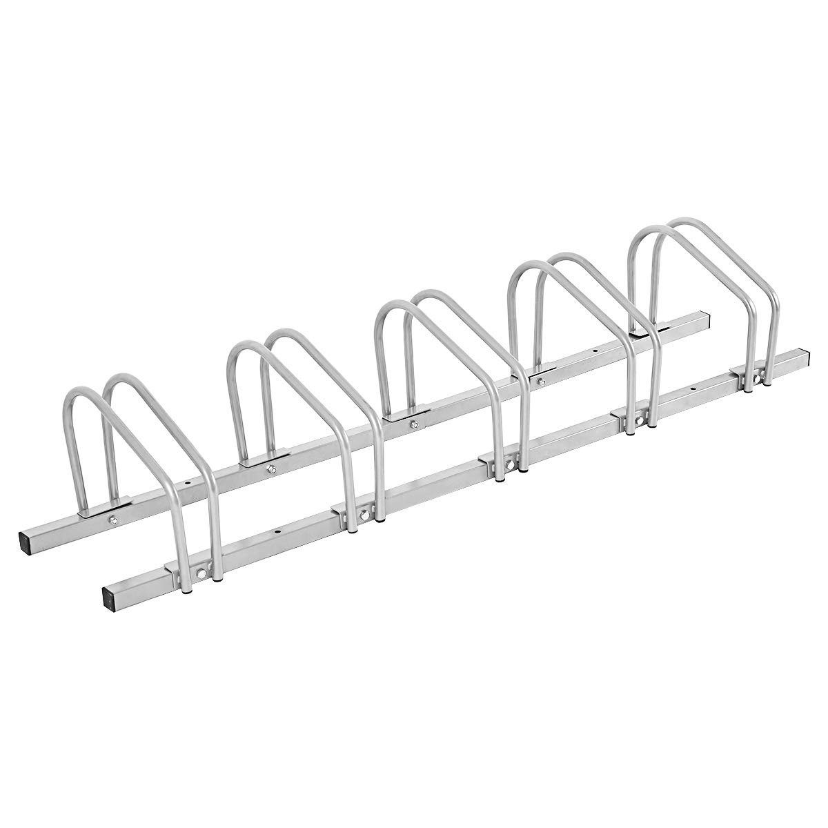 Goplus 5 Bike Rack Bicycle Stand Parking Garage Storage Organizer Cycling Rack Silver Superbuy