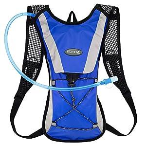 [KuYou]Hydration Pack Water Rucksack Backpack Bladder Bag Cycling Bicycle Bike/Hiking Climbing Pouch + 2L Hydration Bladder,(Blue+Water Pouch)