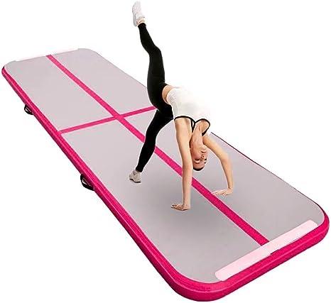 Colchoneta inflable para entrenamiento de gimnasia, con diseño de pista de avión, inflable; para animador, gimnasta, entrenamiento deportivo, playa (3 x 1 m o 3 m x 0,5 m), Pink(100CM): Amazon.es: Deportes y aire libre