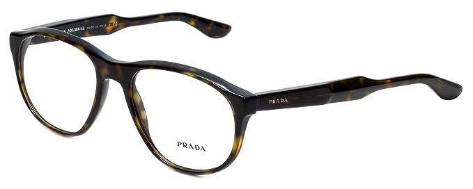 6e4155d5f0a9 Image Unavailable. Image not available for. Color  Prada Journal PR12SV  Eyeglasses 54-18-145 Matte Havana w Demo ...