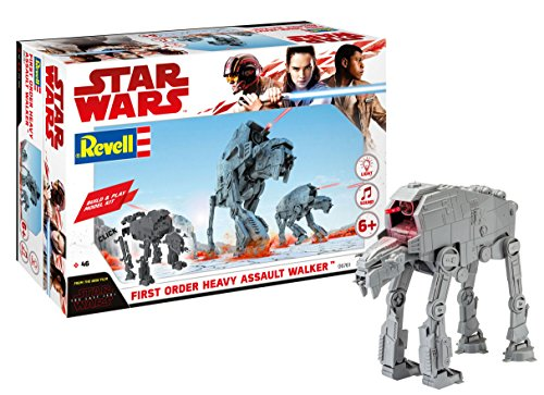 Revell 06761  Star Wars The Last Jedi  Build And Play Assault Walker  With Lights   Sounds