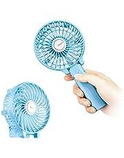 Mini Handheld Fan, EasyAcc Personal Cooling Fan with 2600mAh Rechargeable Battery 3-15 Hours Battery Fan Folding USB Desk Fan Small Portable Table Fan for Travel Camping Outdoors Office Home - Blue