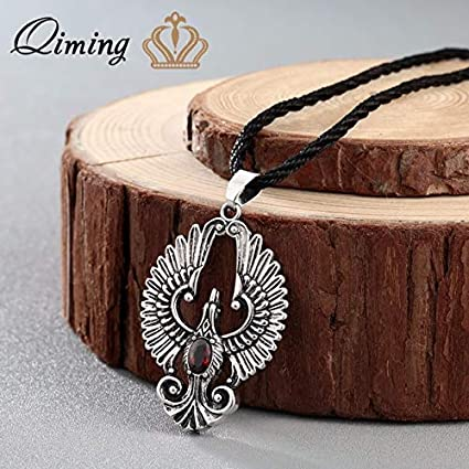 c86fb8b40 Amazon.com: 1Pc Phoenix Bird Pendant Necklace Chokers Eagle Pendant  Beautiful Phoenix Birds Charm Women Jewelry Boyfriend Gift - Antique Silver  Plated: Home ...