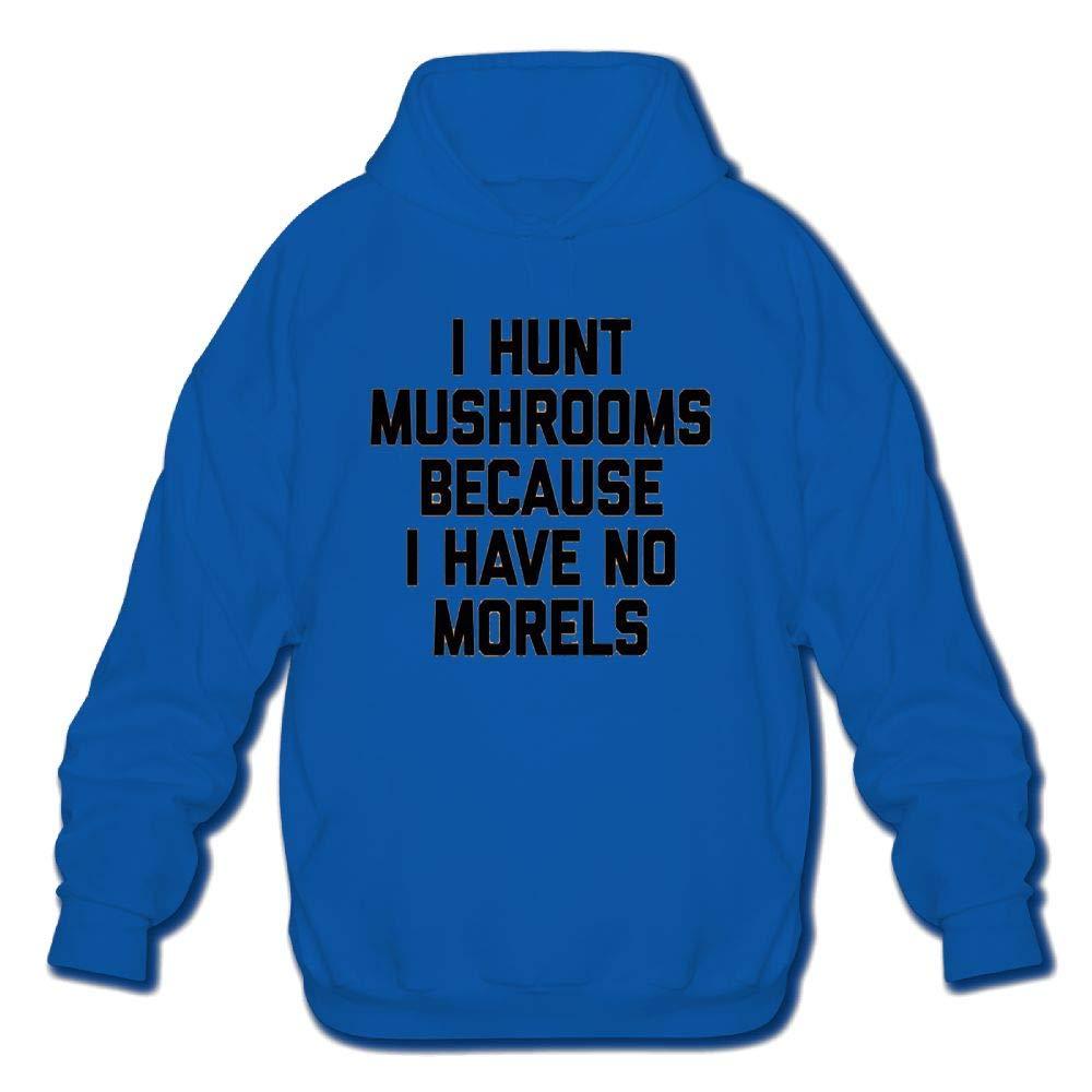 Mens Long Sleeve Cotton Hoodie I Hunt Mushroom Because I Have No Morels1 Sweatshirt