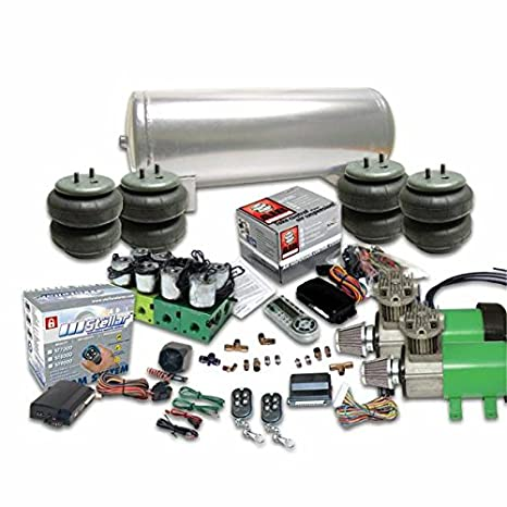 Helix 186651 Dual Compressor Air Bag Suspension System (w/ Remote