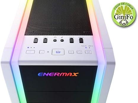 Enermax Saberay Torre Blanco - Caja de Ordenador (Torre, PC, SPCC, Vidrio Templado, Blanco, ATX,Micro ATX,Mini-ITX, Rojo/Verde/Azul): Enermax: Amazon.es: Informática