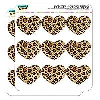 Leopard Print Animal Spots Heart Shaped Planner Calendar Scrapbook Craft Stickers