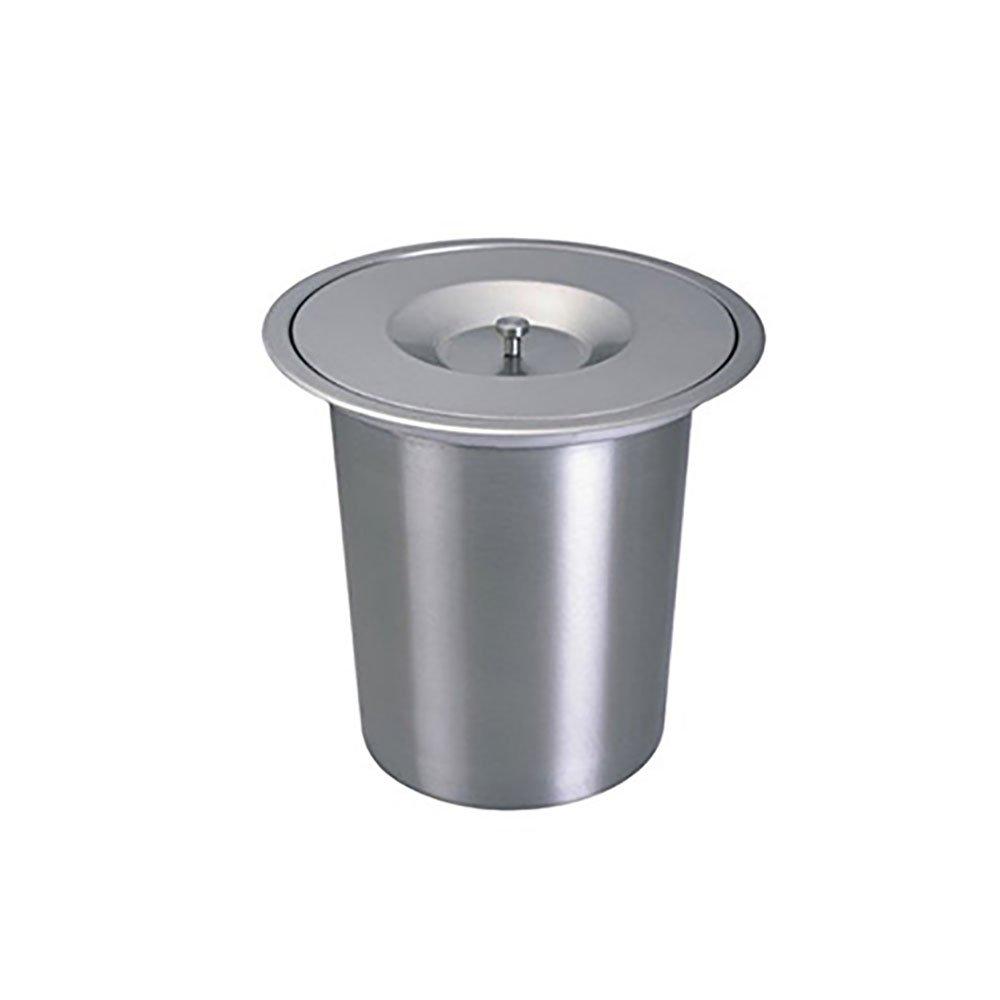 tama/ño: 250 * 270 mm LEYIJU mesa de la cocina incrustados contenedores de basura hermosa a prueba de polvo f/ácil de limpiar gran capacidad materiales de acero inoxidable de alta calidad