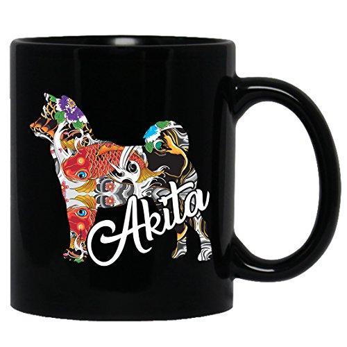 Akita Mug - Akita Mug Coffee, Akita Tea Cup, Coffee Mug Ceramic, Black Mugs 11oz Perfect Gift For Friends