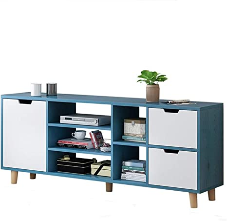 Tv Cabinet Furniture Modern Stand Cabinets Suitable For Living Room Bedroom Blue Color Blue Size 140x30x55cm Amazon Ca Home Kitchen