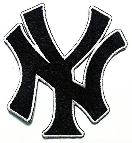 (NY New York City State Yankee Letter USA Sport Logo Applique Iron-on Patch Embroidered Sew T-shirt Hat)