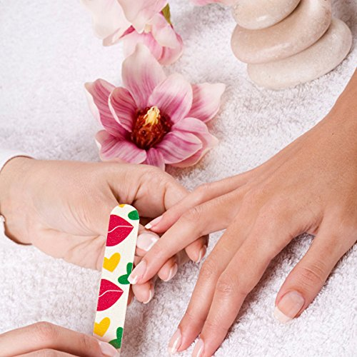 53ae51cc946ee7 200PCS Disposable Nail Files (180 240 Grit) Double Sided Beauty Care Nail  Buffering