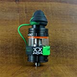 18mm ModShield TipTop ByJojo Silicone Tank Band with Drip Tip Cover Ring Top Covers WHOLESALE OPTION (Green/Black (1 Piece))