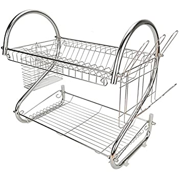 Stainless Steel Dish Bowl Plate Holder Drying Rack Dishrack Tea Coffee Cup Drainer Storage Organizer (  sc 1 st  Amazon.com & Amazon.com: Stainless Steel Dish Bowl Plate Holder Drying Rack ...