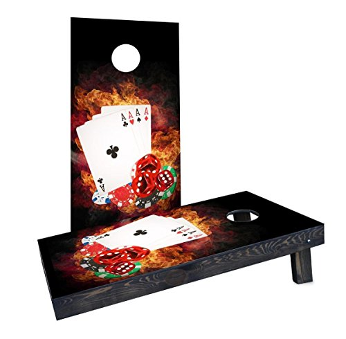Custom Cornhole Boards Incorporated CCB158-2x4-AW-RH 4 Card Stud Poker Cornhole Boards by Custom Cornhole Boards Incorporated