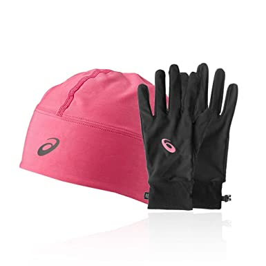 72bca2de Asics Performance Pack - Winter Beanie Plus Gloves Black: Amazon.co.uk:  Clothing