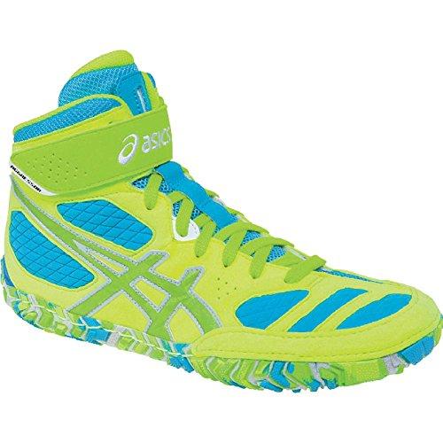 Asics Aggressor 2 L.E. Hombre Amarillo Piel Deportivas Zapatos Nuevo EU 45