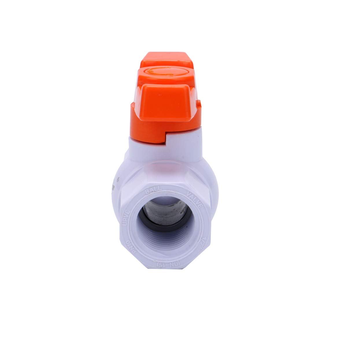 Female Thread x Female Thread Compact T-Handle Shut-Off Valves for Irrigation and Water Treatment SHYOKO 1//2 Valves Inline PVC Ball Valve