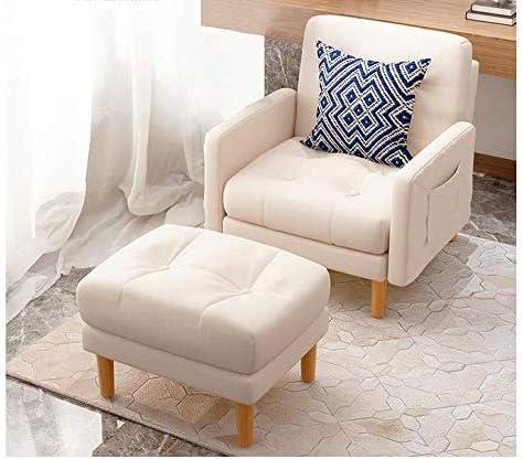 XINTONGSPP Réglable Canapé en Tissu, Style rétro Chaise Sofa + Repose-Pieds, adapté pour la Maison Chambre/Cour/Café, Activités en Plein air