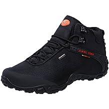XIANG GUAN Men's Outdoor High-Top Oxford Water Resistant Trekking Hiking Boots
