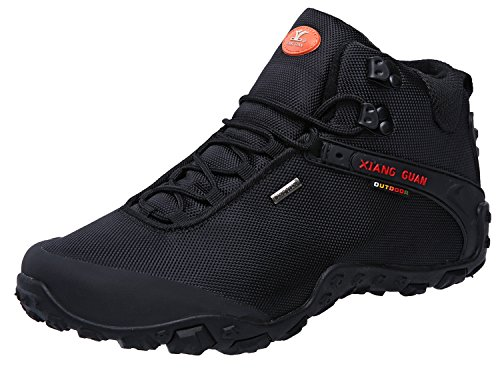 XIANG GUAN Men's Outdoor High-Top Oxford Water Resistant Trekking Hiking Boots