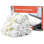 Utopia Towels 10 Pack Organic Bamboo Baby Washcloths- Premium Quality Ultra Soft Face Towels(10 x 10 Inches Reusable Wipes)- Perfect Bamboo Washcloths for Sensitive Skin of all Ages