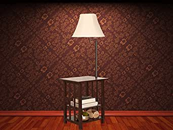 Modern Floor Lamp Floor Lamp Table With Shelves Amp Swing Arm Combination Floor Lamp End Table