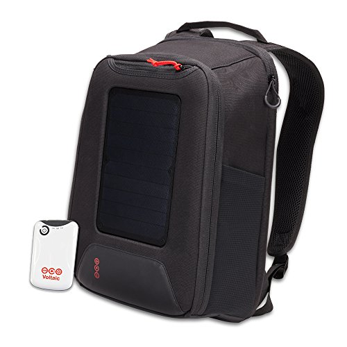 Voltaic Systems - Converter 5 Watt Solar Panel Backpack with Backup Battery Pack - Matte Black | Powers Phones, USB Devices, & More | Charge Your Device as Fast as at Home by Voltaic Systems