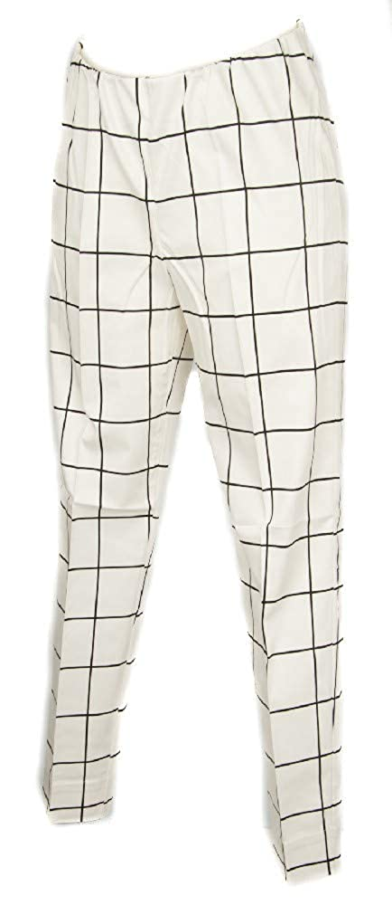 010F Fantasia Bianco RAGNO Trouser Long Pants Women Item 70894S SIGARETTA