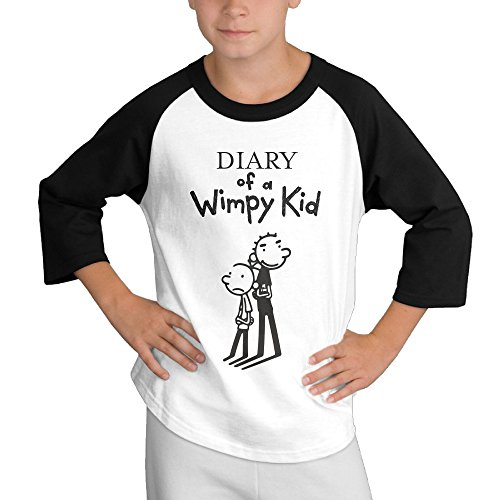 Price comparison product image MULTY9 The Boys Diary Life Cartoon Child Youth 3/4 Sleeve T Shirts Small