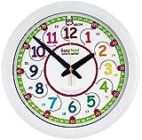 EasyRead Time Teacher Kinderwanduhr, zum Lernen der 12- & 24- Stunden-Zeit. Mit geräuschloser...