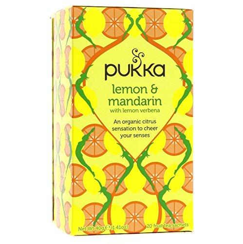 PUKKA- TIsana Organica de Limón y Mandarina - Energizante y Rico en Vitamina C -