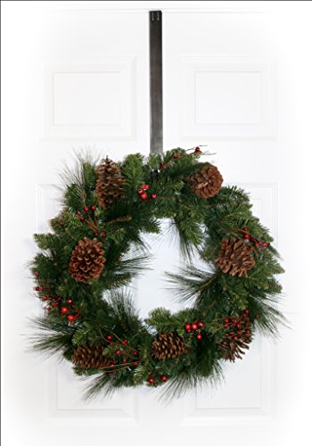 Adjustable Length Wreath Hanger, 20 lb Capacity (Brushed Nickel) by Haute Decor (Image #1)
