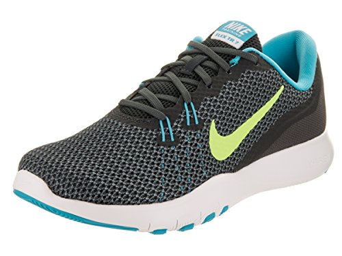 NIKE Womens Flex Trainer 7 Low Top Lace Up Running Sneaker, Grey, Size 6.0