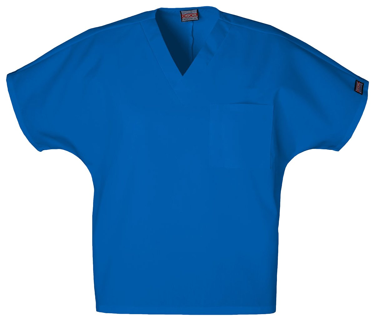 Cherokee Unisex Medical V-Neck Tunic_Royal_Large,4777