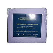 Bamboo Reserve Twin, Double, Queen and King Fitted Sheets in Assorted Colours (Queen, Lavender)