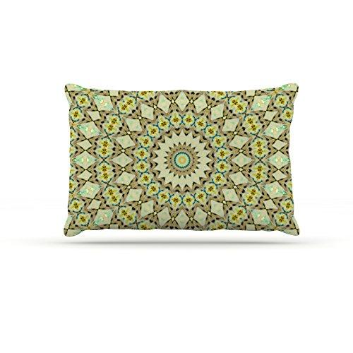 30 by 40\ Kess InHouse Iris Lehnhardt Kaleidoscope Green  Geometric Fleece Dog Bed, 30 by 40