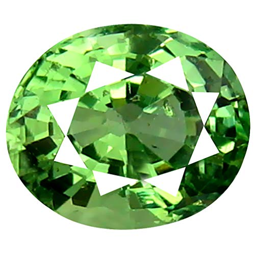 0.82 ct Oval Cut (6 x 5 mm) Un-Heated Tanzanian Tsavorite Garnet Loose Gemstone