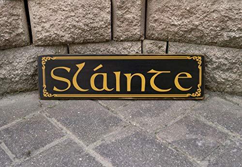 Olga212Patrick Slainte Cheers Irish Sign Pub Sign Bar Sign Man Cave Decor Beer Sign Bar Decor Hand Plaque Printed Wood Sign Wood Sign (Irish Bar)