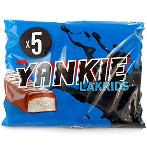 Toms Yankie Lakrids (200g) - Milk chocolate bar with licorice foam filling and licorice caramel