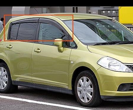 Light Tinted Out-Channel Visor Deflector 4pcs For 2007-2011 Nissan Versa Sedan