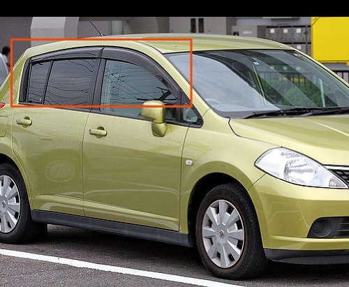 2007 2008 2009 2010 2011 2012 Hatch Window Door Rain Guard Vent Wind Deflector Visors Fit For Nissan Versa Tiida HB