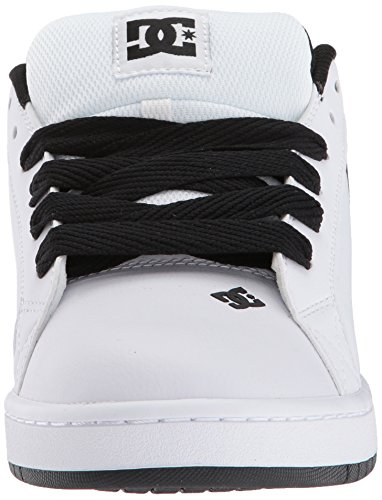 DC Men's Court Graffik SE Skate Shoe, White/Heather Grey, 14 D D US