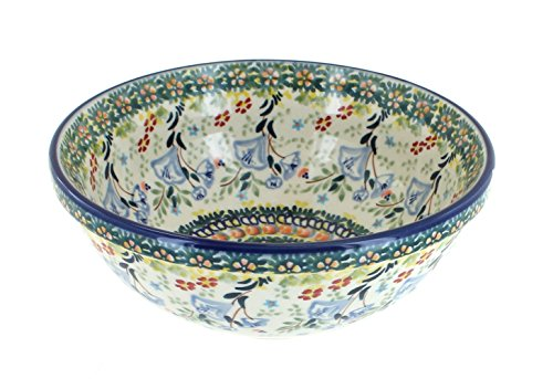 Blue Rose Polish Pottery Periwinkle Cereal/Soup -