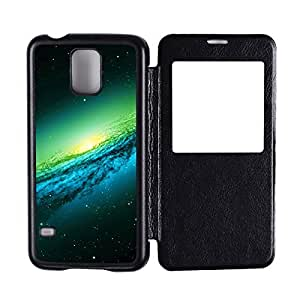Generic Custom Picture Galaxy And Space Flip Hard PC Snap On Skin Cover Back Cell Phone Case For Samsung Galaxy S5
